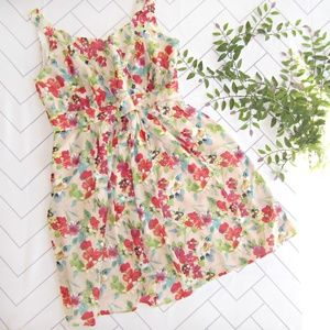 Jessica London Blush Watercolor Floral Dress sz 22